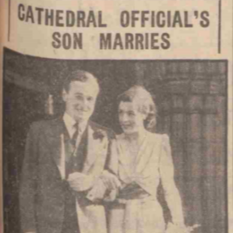 Gwen Payne with her husband on her wedding day.