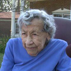 Kabance celebrating her 110th birthday