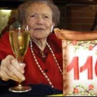 Rein on her 110th birthday.