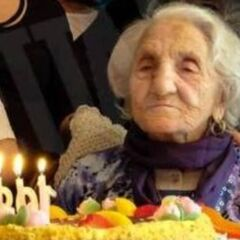 Erminia Bianchini on her 109th birthday
