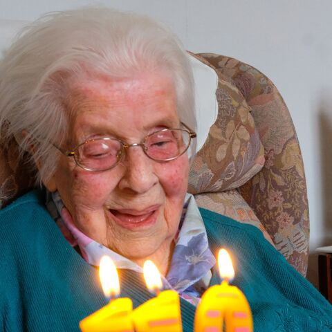 Gertrude Kingston celebrating her 110th birthday.