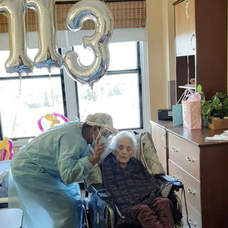 Cecile Klein on her 113th birthday.