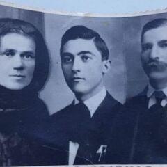 Comanescu with his parents