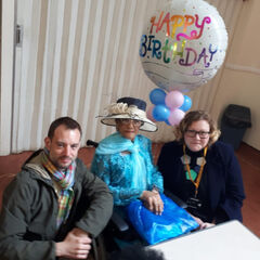 Irene Sinclair on her 110th birthday