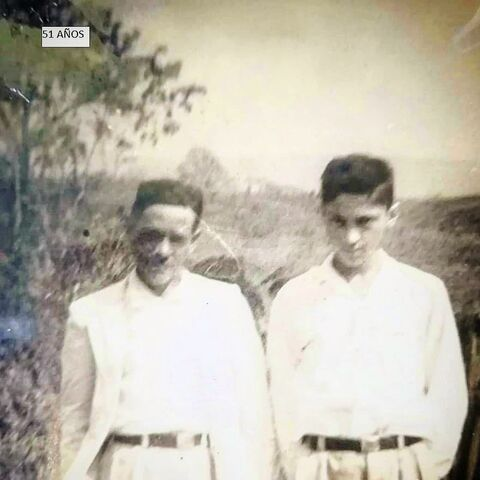 Perez Mora (left) at the age of 51.