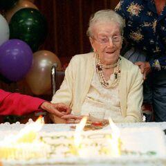 Sarah Knauss on her 117th birthday.