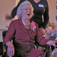 Edie Ceccarelli on her 100th birthday.