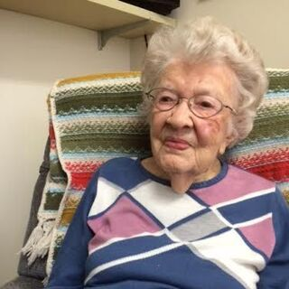 Iris Westman at the age of 110.