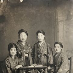 Nakachi (second from the left) in 1923, when she became a teacher.