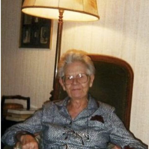 Amelina Debert shortly before her 103rd birthday.