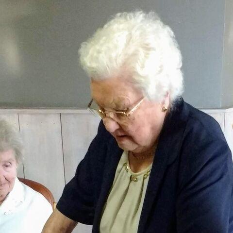 Maria Van Hool shortly before turning 111.