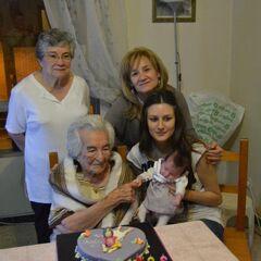 Benegas on her 104th birthday.