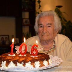 Benegas on her 106th birthday.