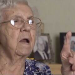 Finotti at 105, during her 2013 interview.
