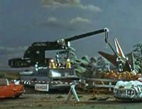 Investigation team crane