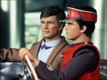 Captain Scarlet going up the London Car-Vu