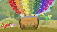 Ponies jump off the cart S3E08