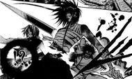 Yuri cuts Kazuki and Makubex