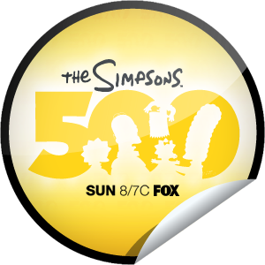 The Simpsons 500th Episode Sticker