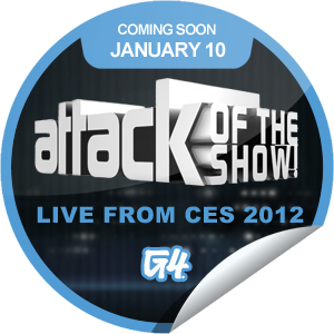 Attack of the Show Live from CES Coming Soon Sticker