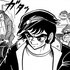 Ryoma disguised as a delinquent