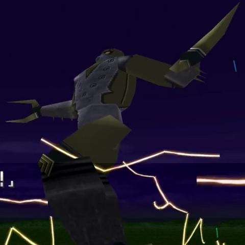 Pikudoron firing lightning bolts