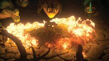 Httyd 2 surrounded by fire by lifelantern-d7aasej