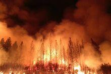 Yosemite fire NASA1