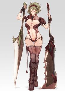Human female berserker by wickedalucard-d3gru21