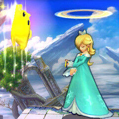 What the  ? Rosalina has stolen Saturn's rings and Luma has stolen the Shoryuken technique.