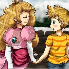 Peach with her son Lucas