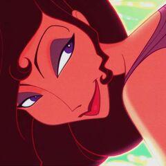 Meg looking at Hercules.