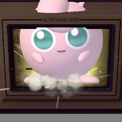 Jigglypuff breaking out of a Game & Watch game.