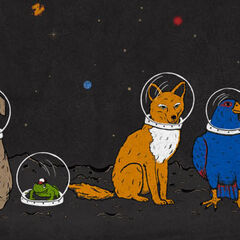 A realistic depiciton of Falco (far right) and the other members of Star Fox.