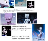 Mewtwo comparison