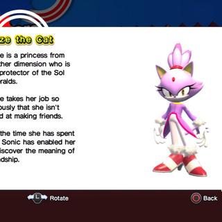 Blaze's profile in Sonic Generations