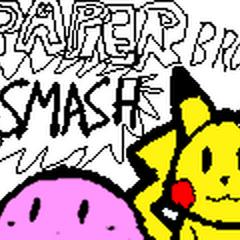 Paper Smash Bros: Mario, Link, Kirby, & Pikachu