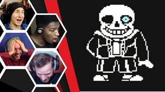 Let's Players Reaction To Sans His First Attack Undertale (Genocide)