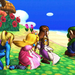 Luigi showing all the Smash Girls on what a perfect  is.