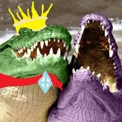 K. Rool and Ridley laughing.