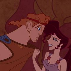 Meg leading Hercules to Hades's bedroom.