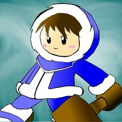 Popo, the male Ice Climber.