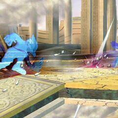Falco with his Quick Attack illusion copies.