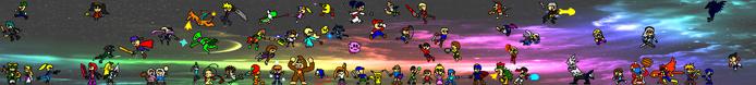 SSBNR Panoramic Art (Starting Roster)