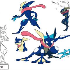 The concept art that made Sakurai choose Greninja for Smash.