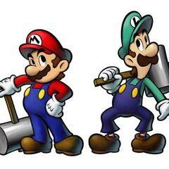Mario and Luigi Luigi stealing the spotlight from Mario and Luigi Mario.