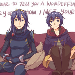Marth and Peach great great great great children or whatever the   you call them.