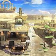Palutena's Temple, a stage confirmed for Super Smash Bros. for Wii U and the home of Palutena.