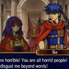 Ike's reaction to the 3DS-era fans who play FE for the waifus and love characters like <a href=