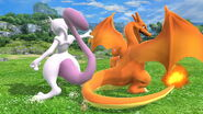 Charizard and Mewtwo